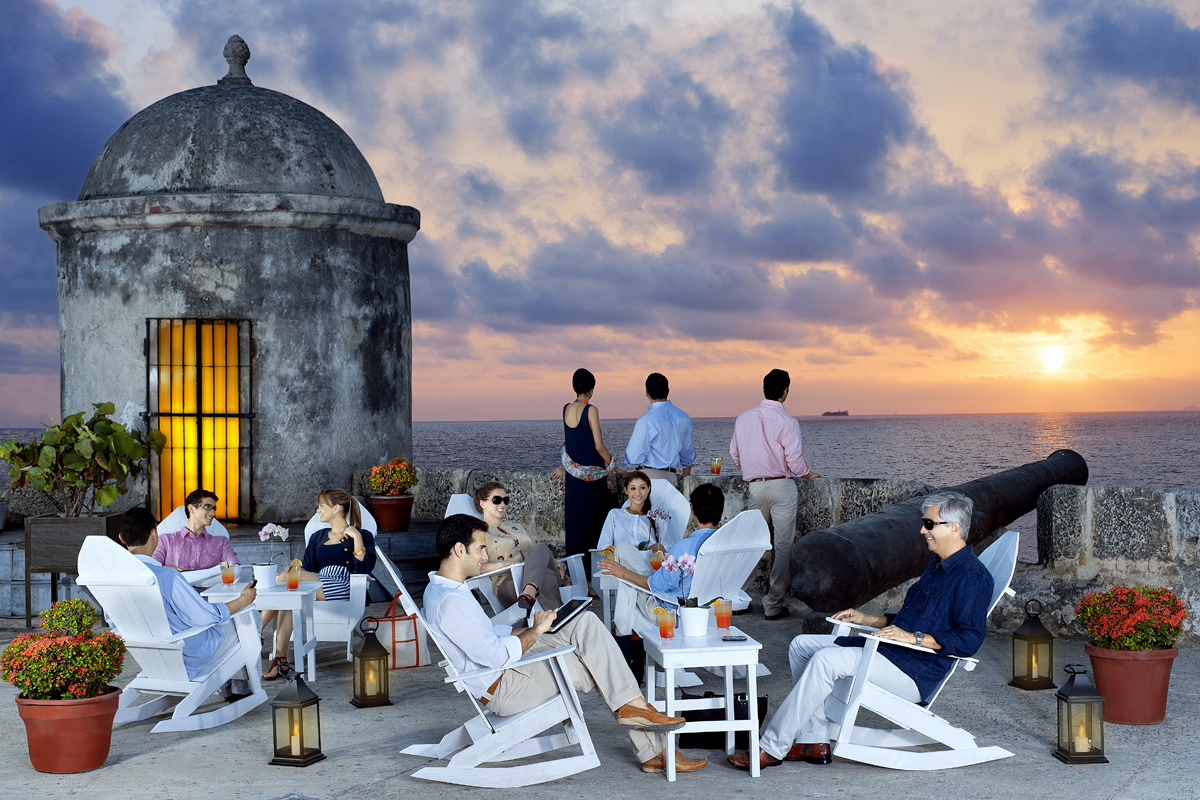 Atardecer en Cartagena de Indias
