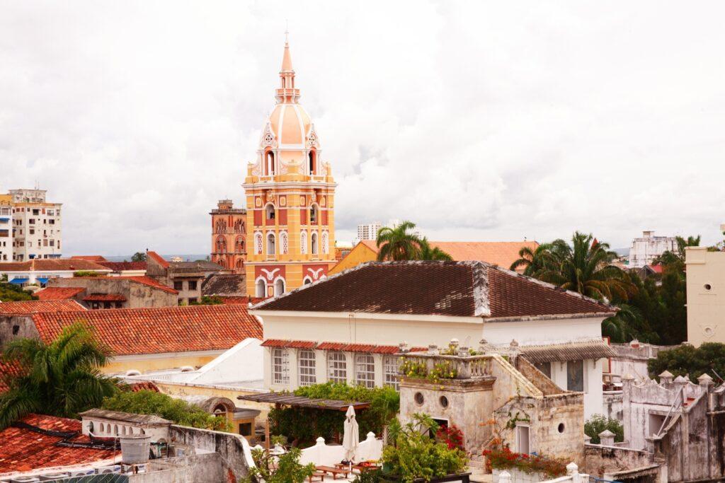 Vista desde los tejados en Cartagena de Indias