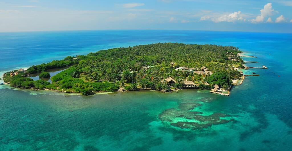 Vista aerea de las Islas del Rosario, Cartagena de Indias