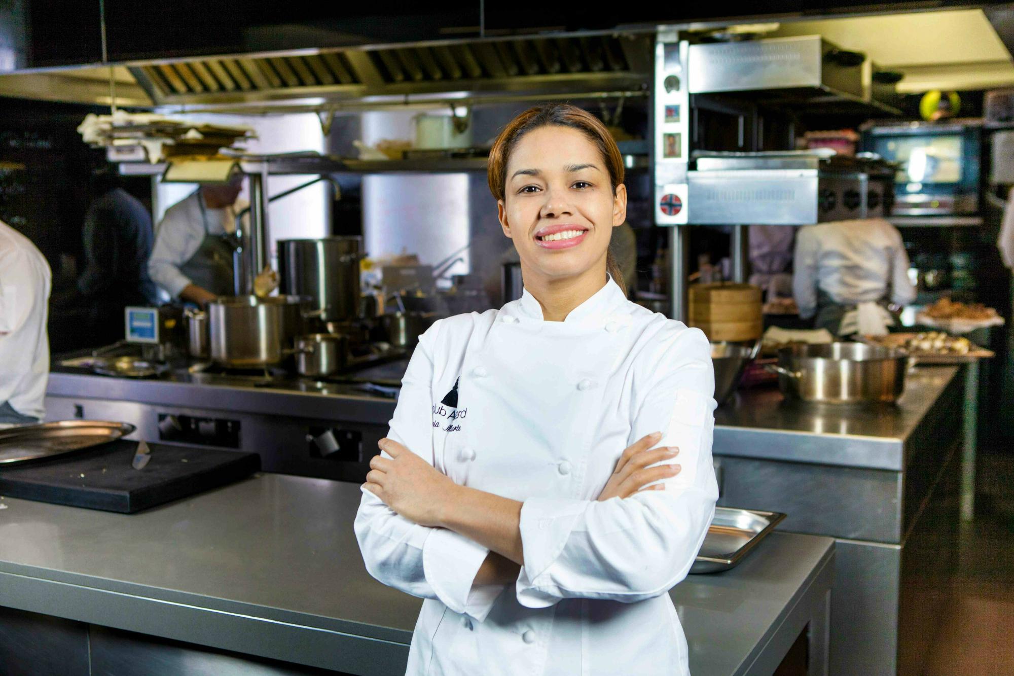 La chef dominicana Maria Marte