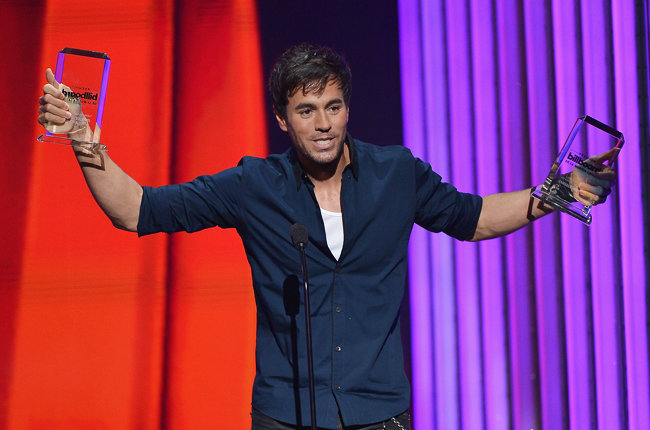 Enrique Iglesias en los premios Billboards 2015