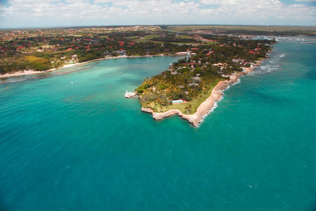 Las costas de La Romana bañadas por el mar Caribe