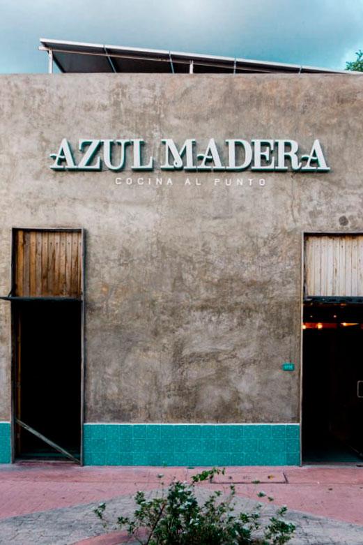 Restaurante Azul Madera